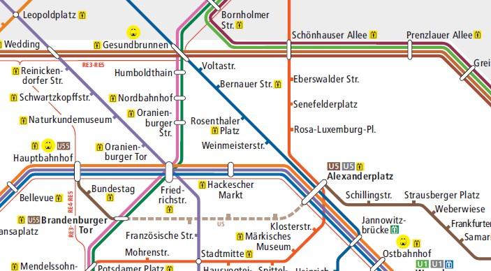 Berliner U Bahn, S Bahn Plan PDF Download (BVG) | Pension Absolut