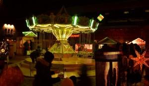 Kettenkarussell auf dem Lucia Weihnachtsmarkt